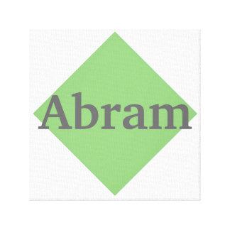 Nombre medio en control verde lona envuelta para galerias