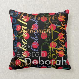 nombre modelado colorido personalizado almohadas