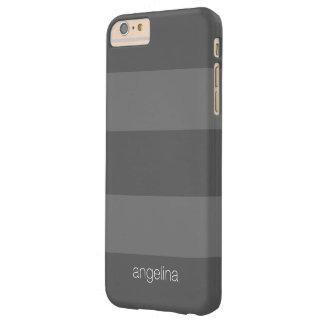 Nombre moderno del personalizado del modelo rayado funda para iPhone 6 plus barely there