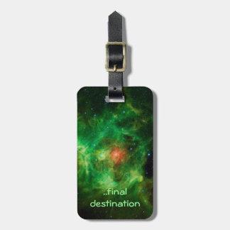 Nombre, nebulosa de la guirnalda, imagen del etiqueta de maleta