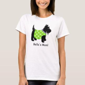 Nombre negro del verde del perro del escocés playera