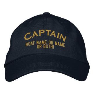 ¡Nombre o ambos de capitán Your Boat Name Your! Gorras De Beisbol Bordadas