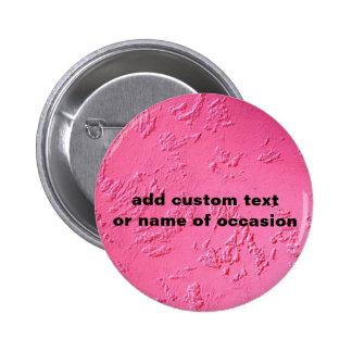 Nombre o iniciales personalizado rosa brillante pin