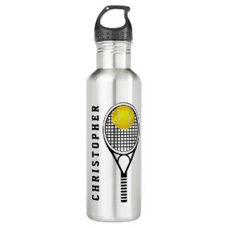 Nombre o monograma personalizado tenis botella de agua de acero inoxidable