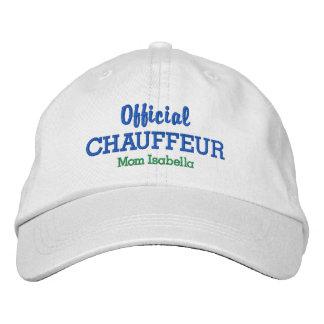 Nombre oficial del personalizado del chófer del gorra bordada