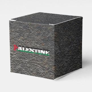 Nombre palestino y bandera caja para regalos