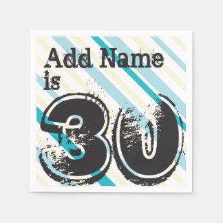 Nombre personalizado 30 años Bday - trigésima Servilleta Desechable