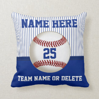 Nombre personalizado almohada del béisbol, número,