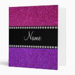 Nombre personalizado brillo rosado púrpura