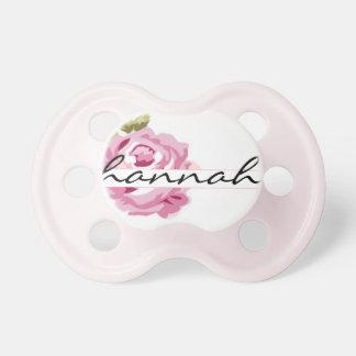 "Nombre personalizado de ""Hannah"" - moda lamentable Chupetes"