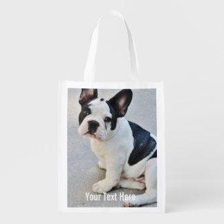 Nombre personalizado de la foto del dogo y del bolsas reutilizables