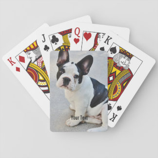 Nombre personalizado de la foto del dogo y del cartas de juego
