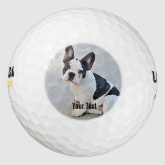Nombre personalizado de la foto del dogo y del pack de pelotas de golf