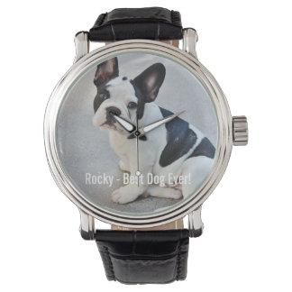 Nombre personalizado de la foto del dogo y del relojes de pulsera