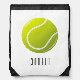 Nombre personalizado de la pelota de tenis mochila