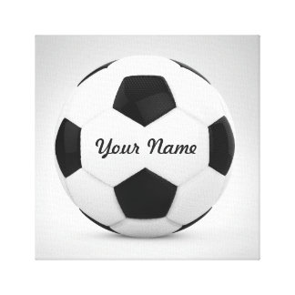 Nombre personalizado del balón de fútbol de la impresiones de lienzo