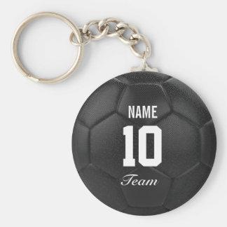 Nombre personalizado del balón de fútbol del llavero redondo tipo pin