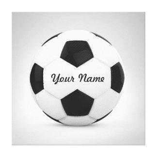 Nombre personalizado del balón de fútbol lienzo envuelto para galerias