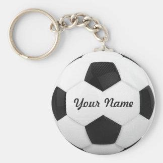 Nombre personalizado del balón de fútbol llavero redondo tipo pin
