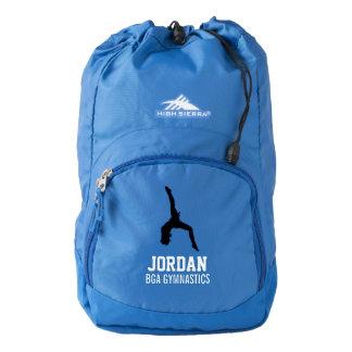 Nombre personalizado del gimnasta y del equipo/del mochila