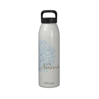 Nombre personalizado en Hydrangea Botellas De Agua Reutilizables