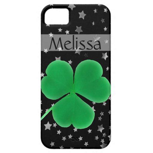 Nombre personalizado estrellas brillantes irlandes iPhone 5 cobertura