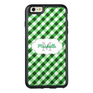 Nombre personalizado modelo verde elegante de la funda otterbox para iPhone 6/6s plus