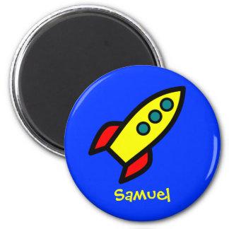 Nombre personalizado - nave de Rocket del dibujo a Imán