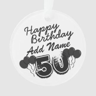 Nombre personalizado negro de 50 años Bday - 50.o