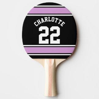Nombre personalizado novedad del jersey del fútbol pala de ping pong