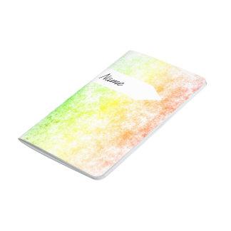 Nombre personalizado nublado del fondo de la nube cuaderno