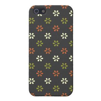 Nombre personalizado pern floral de la flor iPhone 5 funda