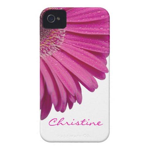 Nombre personalizado personalizado rosado de los c Case-Mate iPhone 4 cárcasas