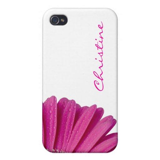 Nombre personalizado personalizado rosado de los c iPhone 4 carcasa