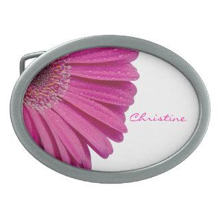 Nombre personalizado personalizado rosado de los c hebilla cinturon