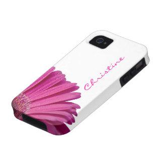 Nombre personalizado personalizado rosado de los vibe iPhone 4 carcasas
