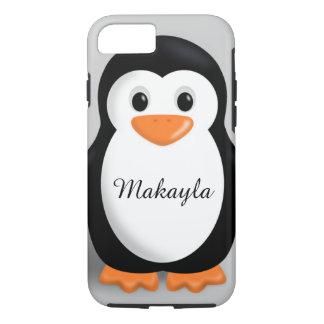 Nombre personalizado pingüino lindo del bebé funda iPhone 7
