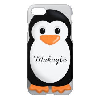 Nombre personalizado pingüino lindo del bebé funda para iPhone 7