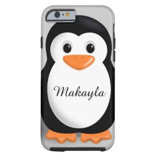 Nombre personalizado pingüino lindo del bebé funda resistente iPhone 6