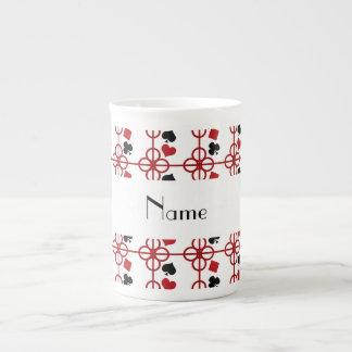 Nombre personalizado póker tazas de porcelana