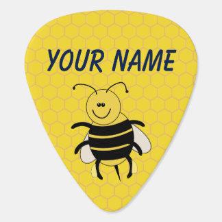 Nombre personalizado púa de guitarra del panal de
