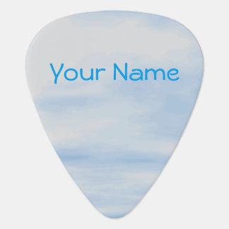 Nombre personalizado púa de guitarra nublada del
