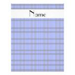 Nombre personalizado tela escocesa gris y azul mod flyer personalizado