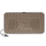 Nombre personalizado y Mosaico de Marruecos Laptop Altavoz
