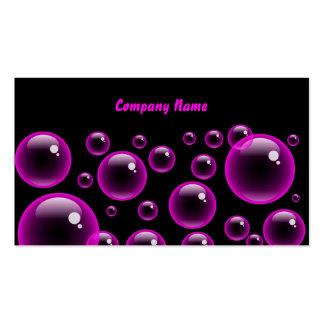 Nombre Pink Bubbles, Company Tarjetas De Visita