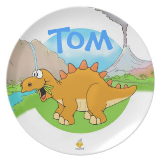 """nombre plate """"DINOS """" for kids with Platos"""