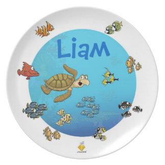"nombre plate with for kids ""under the sea "" platos de comidas"