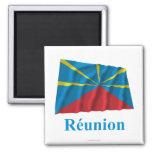 Nombre propuesto de la bandera de Reunion Island q Imán De Frigorífico