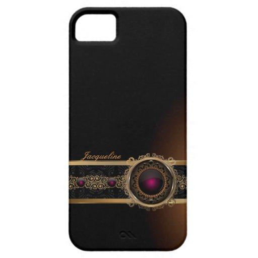 Nombre púrpura de lujo del ojo del diamante del iPhone 5 carcasa