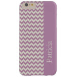 Nombre púrpura del personalizado de la raya de funda de iPhone 6 plus barely there